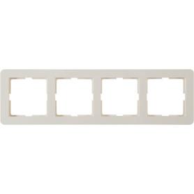Рамка для розеток и выключателей Schneider Electric W59 Deco 4 поста, цвет слоновая кость