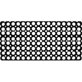 Коврик ячеистый 40x60 см, резина, цвет чёрный