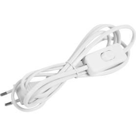 Шнур с выключателем 2 м, 220 В, цвет белый