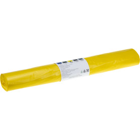 Мешки для мусора 240 л, цвет жёлтый, 10 шт.