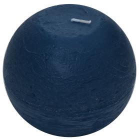 Свеча-шар «Рустик» 10 см цвет тёмно-синий