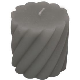 Свеча-столбик витой «Рустик» 7.4х8 см цвет светло-серый