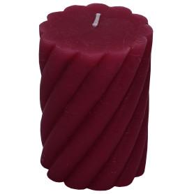 Свеча-столбик витой «Рустик» 7.4х10 см цвет бордо