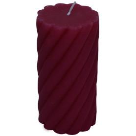 Свеча-столбик витой «Рустик» 7.4х14 см цвет бордо