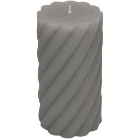 Свеча-столбик витой «Рустик» 7.4х14 см цвет светло-серый
