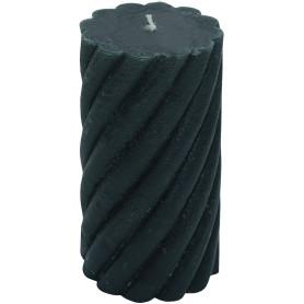 Свеча-столбик витой «Рустик» 7.4х8 см цвет тёмно-зелёный