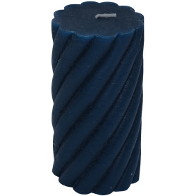 Свеча-столбик витой «Рустик» 7.4х8 см цвет тёмно-синий