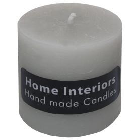 Свеча-столбик «Рустик» 7х8 см цвет светло-серый