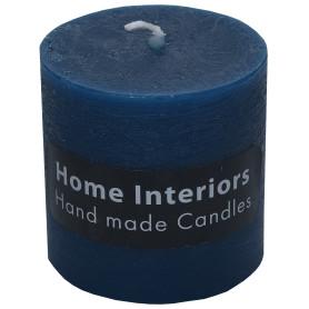 Свеча-столбик «Рустик» 7х8 см цвет тёмно-синий