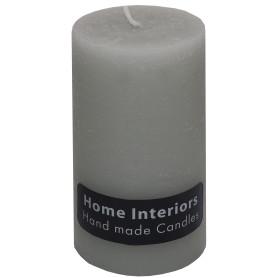 Свеча-столбик «Рустик» 7х13 см цвет светло-серый