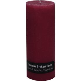 Свеча-столбик «Рустик» 7х19 см цвет бордо