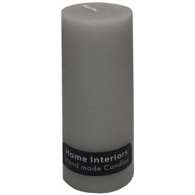 Свеча-столбик «Рустик» 7х19 см цвет светло-серый