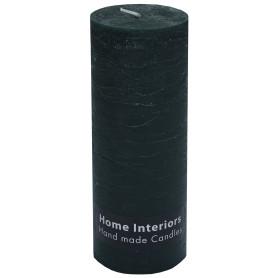Свеча-столбик «Рустик» 7х19 см цвет тёмно-зелёный