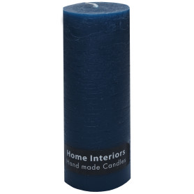 Свеча-столбик «Рустик» 7х19 см цвет тёмно-синий