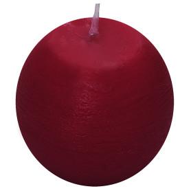 Свеча-шар «Рустик» 6 см цвет бордо