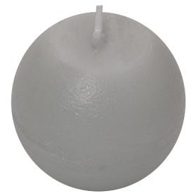 Свеча-шар «Рустик» 6 см цвет светло-серый