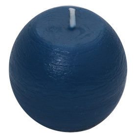 Свеча-шар «Рустик» 6 см цвет тёмно-синий