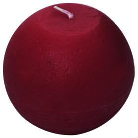 Свеча-шар «Рустик» 10 см цвет бордо