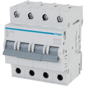 Выключатель автоматический Hager MC432A, 4 полюса 32 А, «C» 4P 6KA C-32A 4M