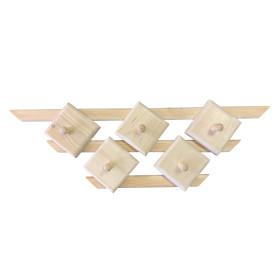 Вешалка настенная 5 крючков цвет бежевый