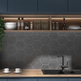 Керамогранит «Кампо» 20x23.1 см 0,76 м² цвет тёмно-серый