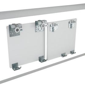 Комплект направляющих для двух дверей «Лион», цвет матовое серебро