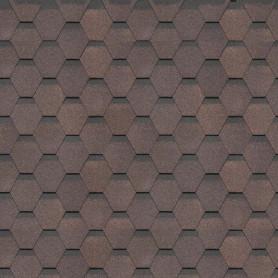 Гибкая черепица Dacha Americana коричневый 3 м²