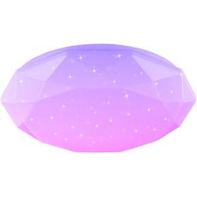 Светильник настенно-потолочный светодиодный Polaris с пультом управления, 24 м², регулируемый цвет света RGBW, цвет белый