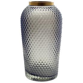 Ваза «Киркинес-1», стекло, цвет серый, 26 см