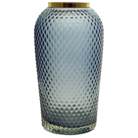Ваза «Киркинес-3», стекло, цвет синий, 26 см