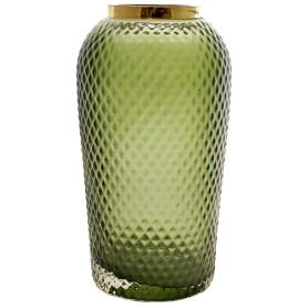 Ваза «Киркинес-5», стекло, цвет зелёный, 26 см