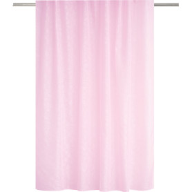 Тюль на ленте для кухни «Тиснение» 140x180 см цвет светло-розовый