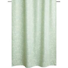 Штора на ленте для кухни 135x180 цвет зелёный