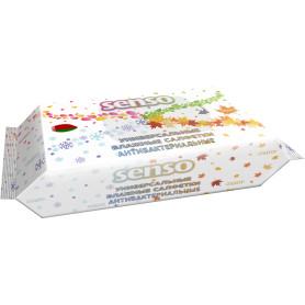 Салфетки влажные универсальные антибактериальные «Senso» 100 шт.