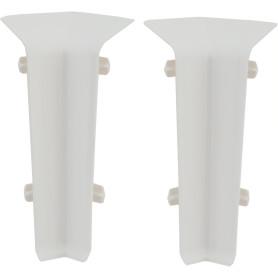 Угол для плинтуса внутренний «Белый Глянцевый» 80 мм 2 шт.