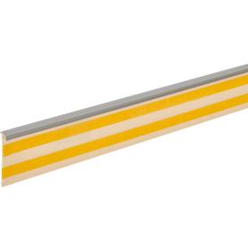 Плинтус напольный ПВХ для ковролина/линолеума высота 50 мм, длина 2.5 м цвет серый