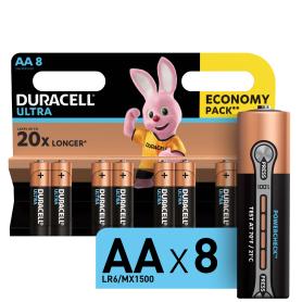 Батарейка алкалиновая Duracell Ultra AA 8 шт.