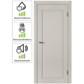Дверь межкомнатная с фурнитурой Пьемонт 60х200 см, Hardflex, цвет платина светлая