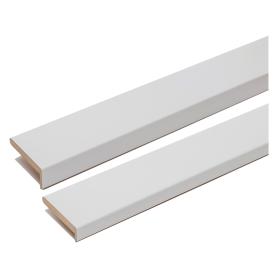 Комплект наличников Танганика для полотна 900 мм CPL, цвет белый