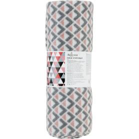 Плед Silberzacken 140х200 см флис цвет розовый/серый