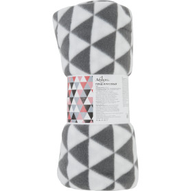 Плед Liushi 140х200 см флис цвет белый/серый