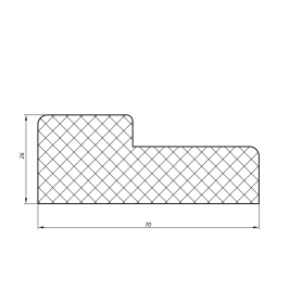 Комплект дверной коробки 2070x70x26 мм, цвет тёрнер белый