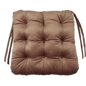 Сидушка для стула «Бархат» 40x36 см цвет пепел розы