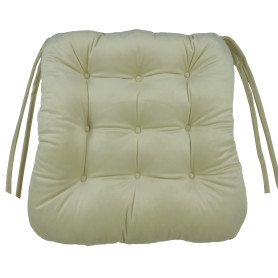 Сидушка для стула «Бархат» 40x36 см цвет кремовый