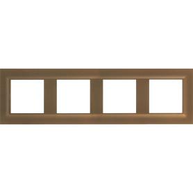 Рамка для розеток и выключателей Legrand Structura 4 поста, цвет шампань