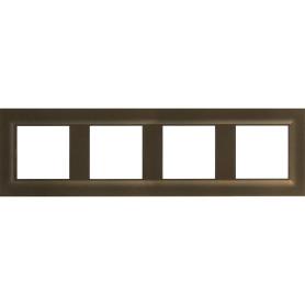 Рамка для розеток и выключателей Legrand Structura 4 поста, цвет бронзовый