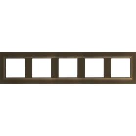 Рамка для розеток и выключателей Legrand Structura 5 постов, цвет бронзовый