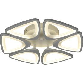 Люстра потолочная светодиодная Escada 10218/6 с пультом управления, 20 м², регулируемый белый свет, цвет белый