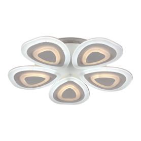 Люстра потолочная светодиодная Escada 10223/5 с пультом управления, 20 м², регулируемый белый свет, цвет белый