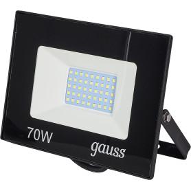 Прожектор светодиодный уличный Gauss Basic 70 Вт 6500К IP65, цвет чёрный